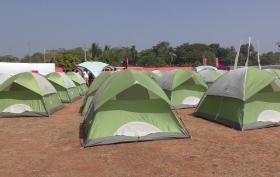 Illegal Tent at Sunburn