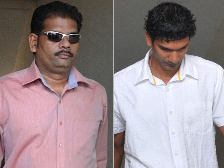 In this picture taken on April 5, 2010, prime accused in the Scarlet Keeling case, Placido Carvalho (R) walks with his wife as they enter the Children's Court in Panaji. The trial opened on April 5 of two Indian men accused of killing British teenage girl Scarlett Keeling in the popular resort state of Goa two years ago. Federal investigators formally charged the men late last year over the death of 15-year-old Keeling, whose bruised and half-naked body was found on popular Anjuna beach in February 2008. AFP PHOTO/STR (Photo credit should read STR/AFP/Getty Images)