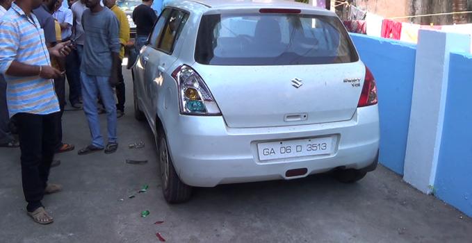 DAJI SALKARS CAR ALLEGEDLY VANDALISED BY BJP SUPPORTERS