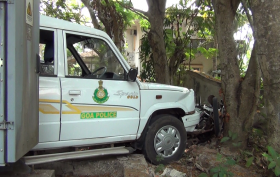 POLICE JEEP RAMS TWO VEHICLES AT ALTINHO PANJIM