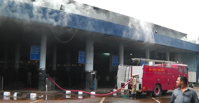 Major Fire at KTC Bus Stand Panjim, RTO & Kadamba Office Gutted in
