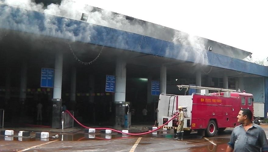 Major Fire at KTC Bus Stand Panjim, RTO & Kadamba Office
